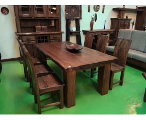 Mesa comedor madera de castaño viejo