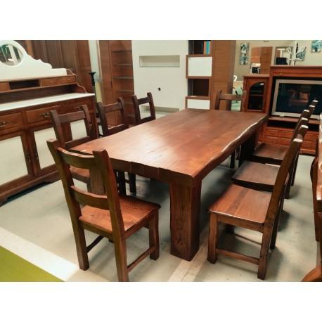 mesa maciza de castaño