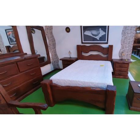 Dormitorio castaño