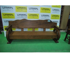 Escaño madera castaño macizo