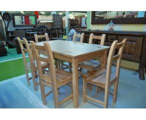 Conjunto mesa y seis sillas